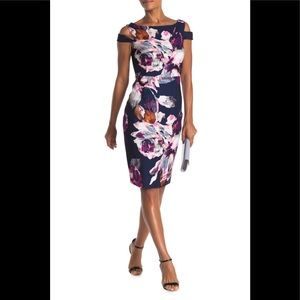 Trina Turk Adley Cut Out Shoulder Floral Dress